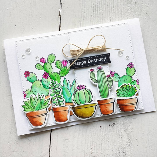 Laina Lamb Design Sweet Succulents stamp set and Die-namics - Maria #mftstamps