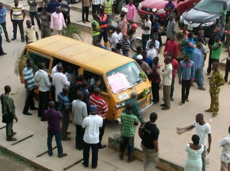 danfo bus conductor stabs passenger