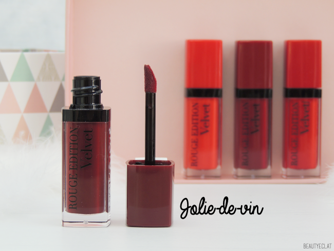 revue avis test bourjois red in the city rouge edition 12 heures rouge edition velvet swatch swatches jolie de vin