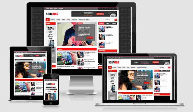 Sora Mag Responsive Blogger Template Free Download