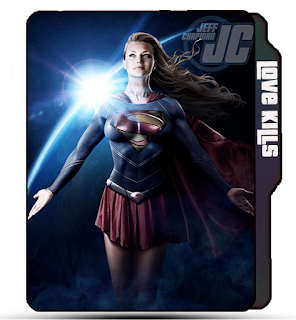 Supergirl Comics poster icon, Jeff Chapman Supergirl, Supergirl, Supergirl folder icon, Comics Icons.