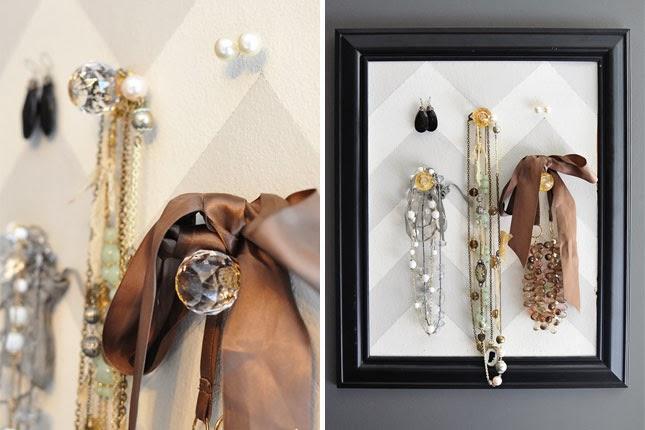biżuteria w ramkach diy