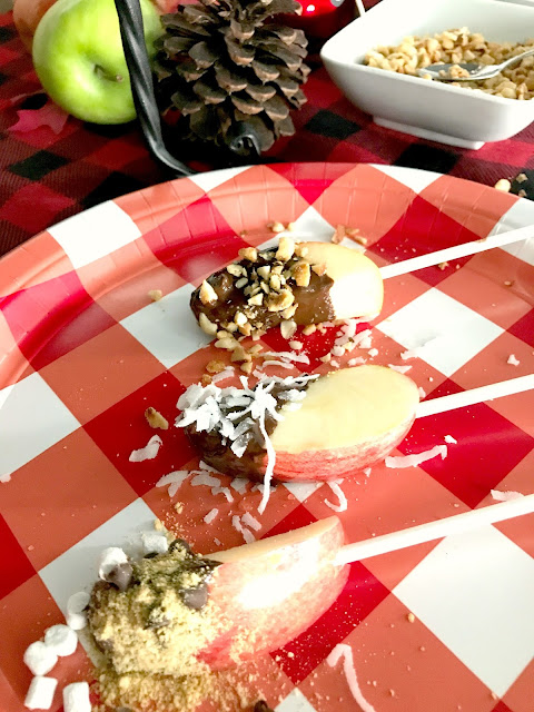 Host an apple dipping bar.  Guests can make their own!
