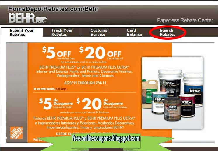 Coupons home depot online