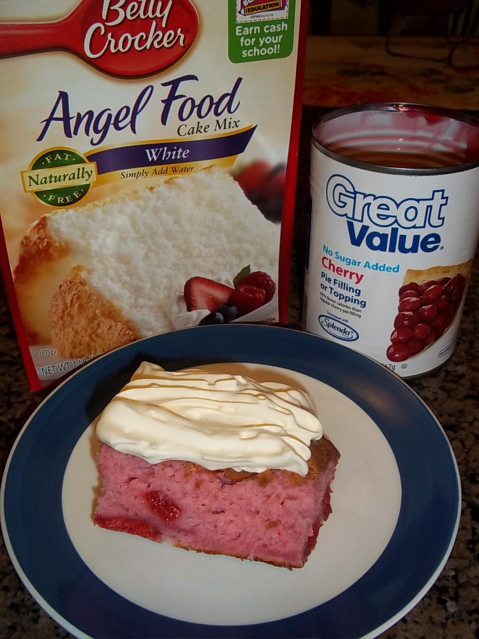 Cherry Flavored Angel Food Cake