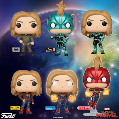 Captain Marvel Movie Pop! Marvel Vinyl Figures by Funko