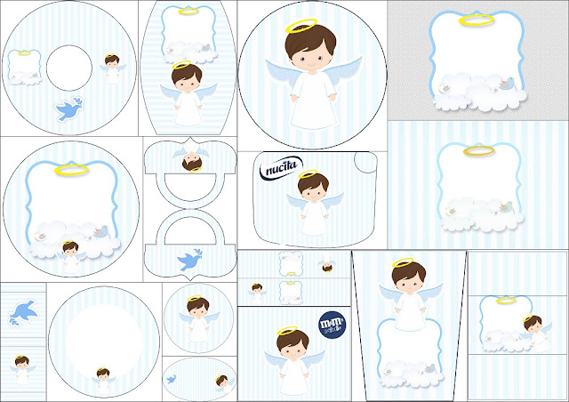 Cute Angel Boy: Free Printable Candy Bar Labels.