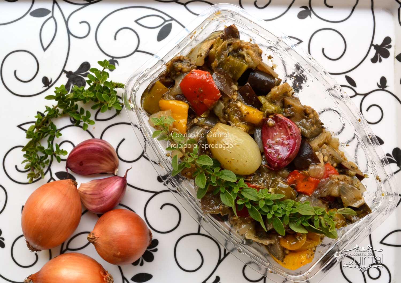 Beringela assada à moda árabe na Cozinha do Quintal