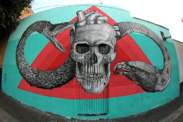 Street Art By Alexis Diaz For Board Dripper In Queretaro, Mexico. 10