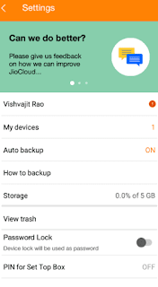 What is Reliance Jio Cloud Storage in Hindi