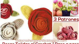 3 Patrones de Flores Tejidas al crochet