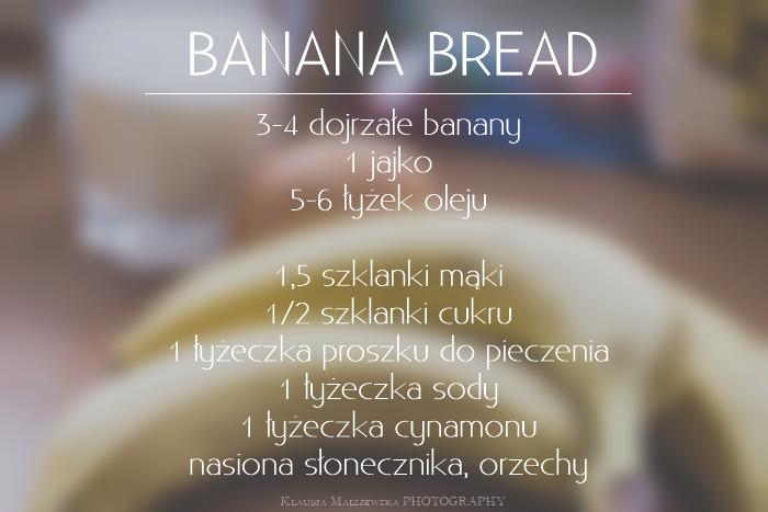 przepis na ciasto bananowe, przepis na chlebek bananowy, chlebek bananowy, banana bread