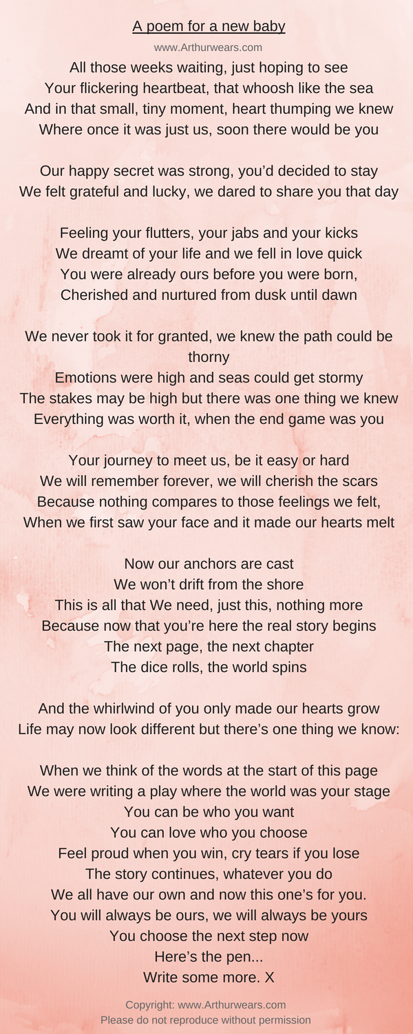 A newborn poem for a new baby