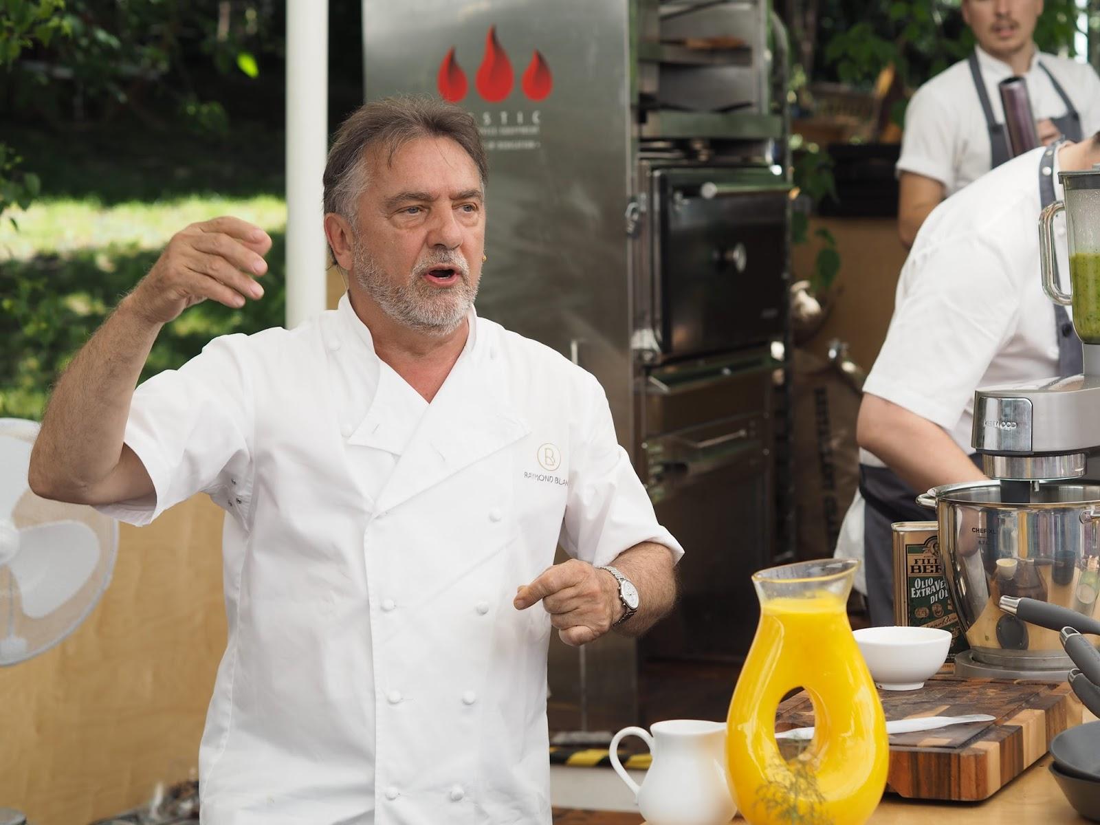 Raymond-Blanc-cookery-demonstation-Jardin-Blanc-Chelsea-Flower-Show
