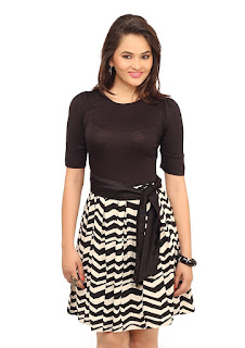 Black and white flare dress ideas for indian girls to 20 list