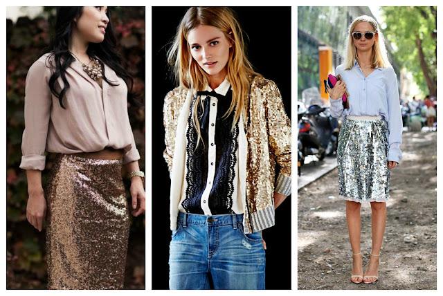 пайетки и блестки в образах, модный тренд сезона блестки, с чем носить пайетки
