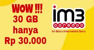 Trik Paket Internet Murah Indosat IM3 Ooredoo 30 GB Cuma Rp 30.000 | Buruan Daftar !!!