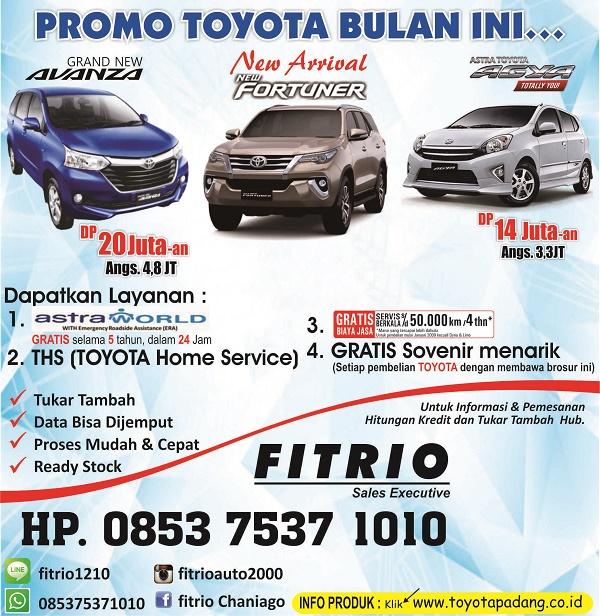 Promo Toyota Padang 2016, Hanya dibulan ini, bulan depan harga naik