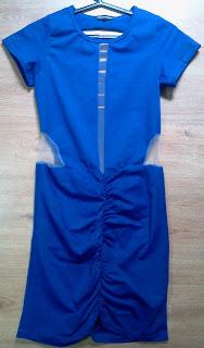 vestido azul Chocolate Branco M