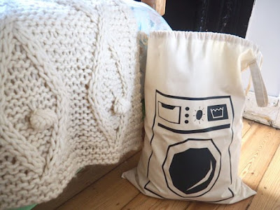 Cotton Canvas Laundry Bag