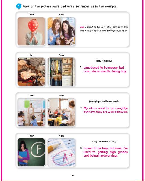11. Sınıf Cem Veb Ofset Yayınları İngilizce Sunshine Çalışma Kitabı 54. Sayfa Cevapları Theme 10 Habits: Now And Then