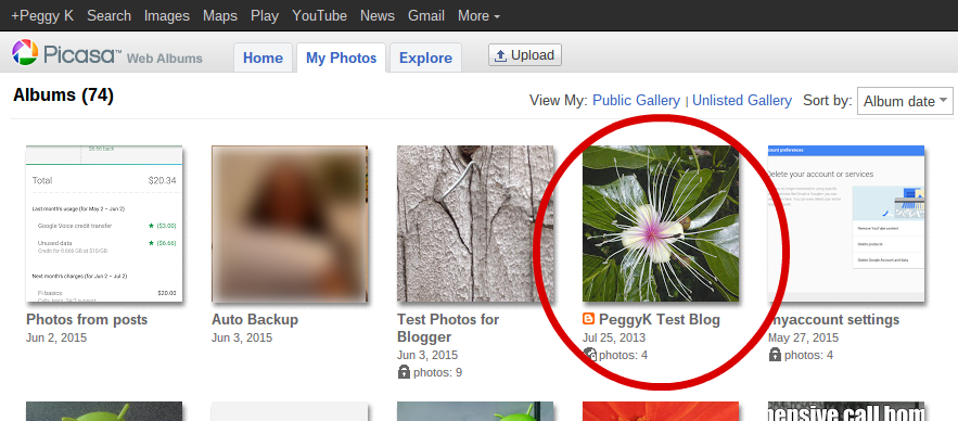 Find your Blogger blog images