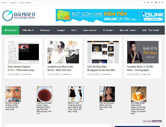 Chia Sẻ Giao Diện Template Blogspot Giaiphap.f4vnn.com Miễn Phí Cho Anh Em