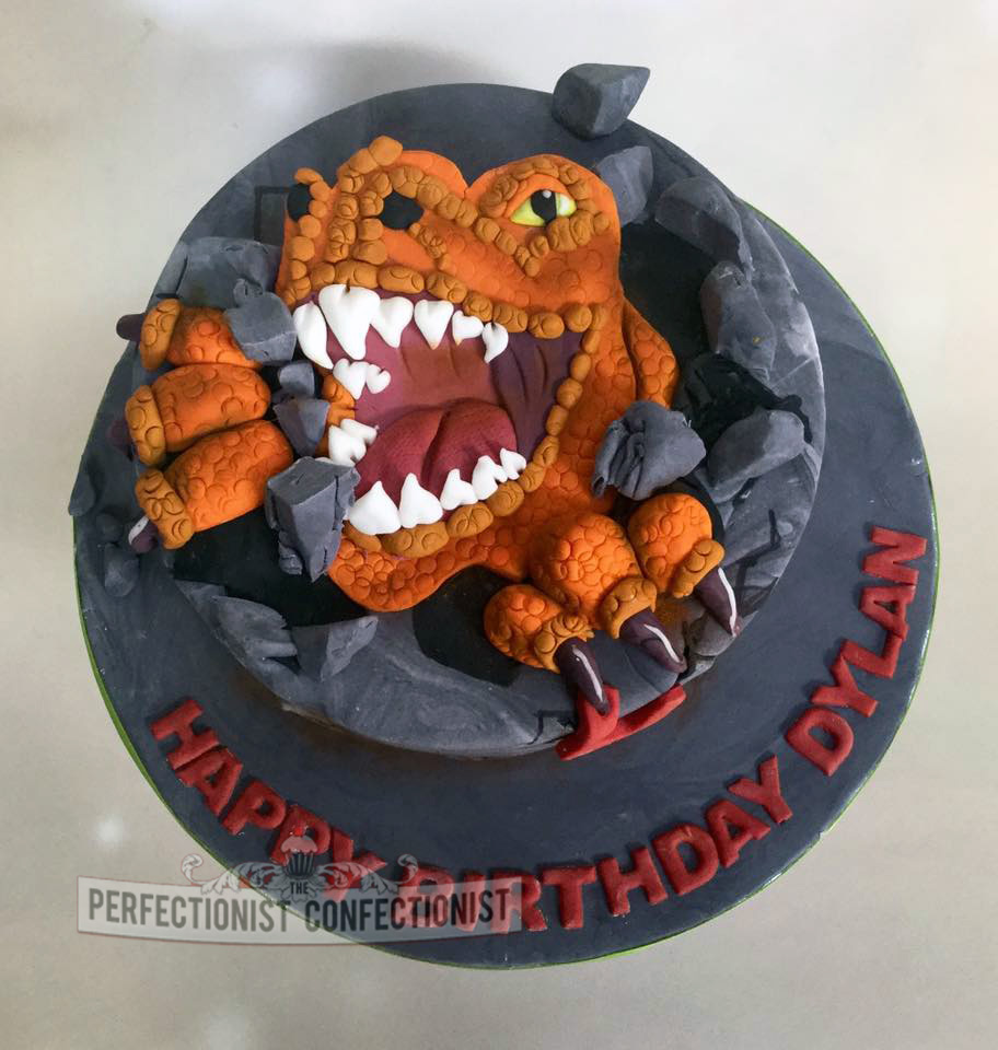 The Perfectionist Confectionist Dylan T Rex Birthday Cake