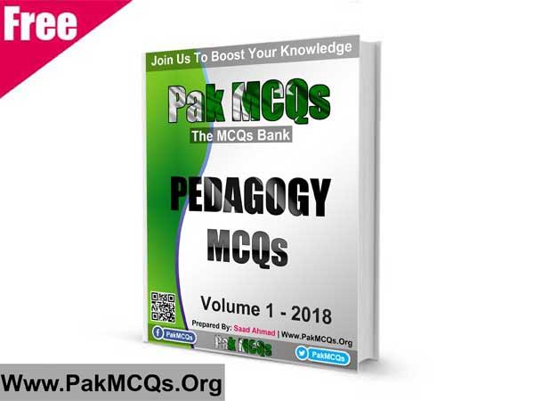 Pak MCQs: Pedagogy MCQs PDF