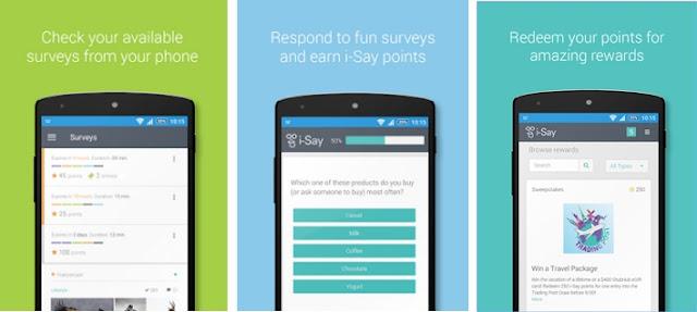 تطبيق i-Say Rewards للهاتف للربح من الانترنت للأندرويد