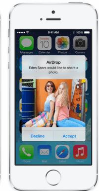 Airdrop files on iPhone