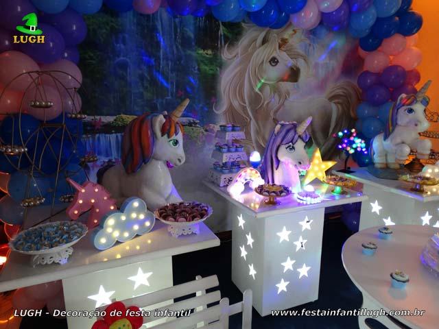 Ornamentação tema Unicórnio - Festa de aniversário infantil