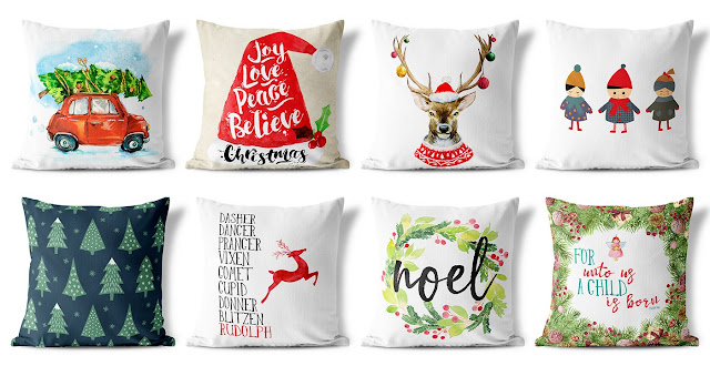 christmas custom pillow