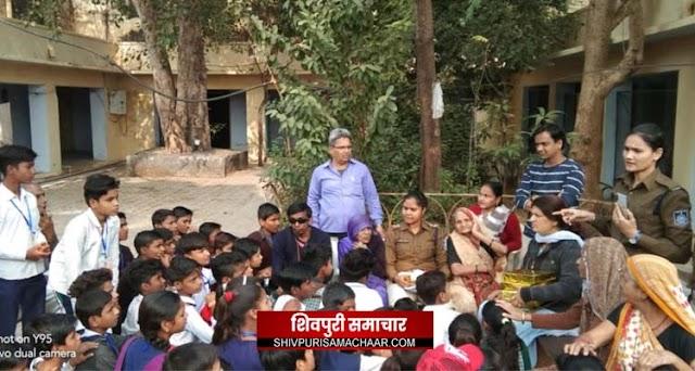 स्टूडेंट पुलिस कैडेट से जुड़े पांच स्कूल के 100 छात्रों ने किया मंगलम का भ्रमण | Shivpuri News