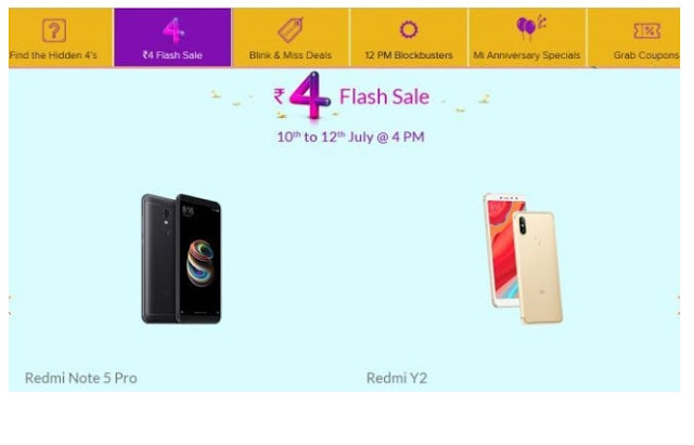 xiaomi mi anniversary sale from 10-12 july