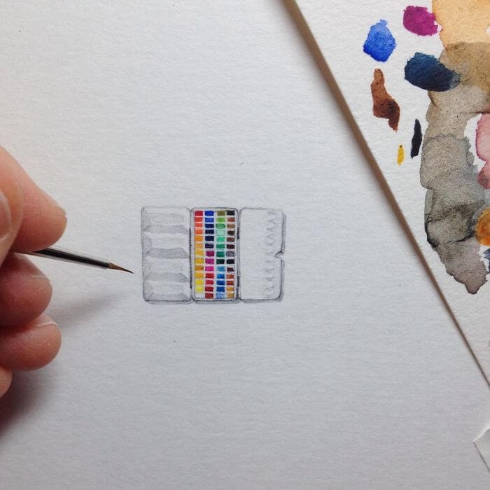 11-Watercolor-Paints-Brooke-Rothshank-Miniature-Paintings-www-designstack-co