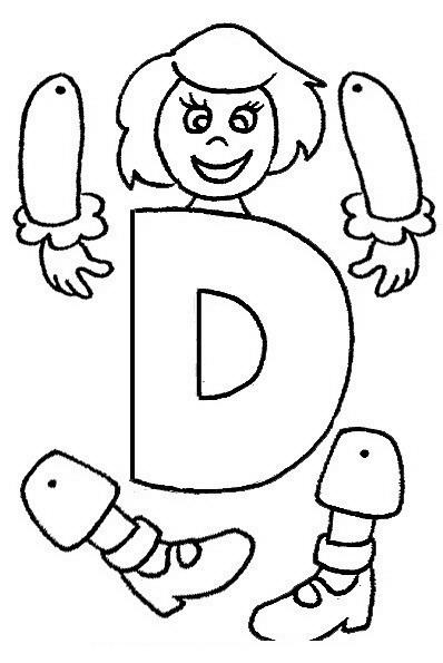 Marioneta De Letra C Para Colorear Armar Y Pintar Dibujo