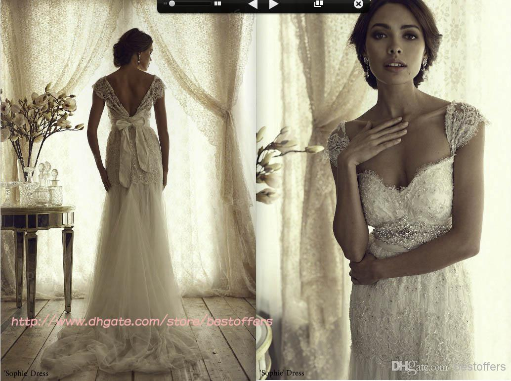 wedding dresses with cap sleeves and sweetheart neckline