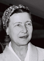 Simone de Beauvoir, (c) Moshe Milner [CC BY-SA 3.0 (https://creativecommons.org/licenses/by-sa/3.0)], via Wikimedia Commons