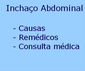 Inchaço Abdominal causas remédios consultar médico tratamento