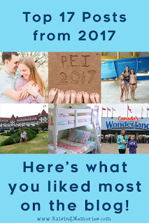 Most Popular Blog Posts of 2017 by www.RaisingMemories.com