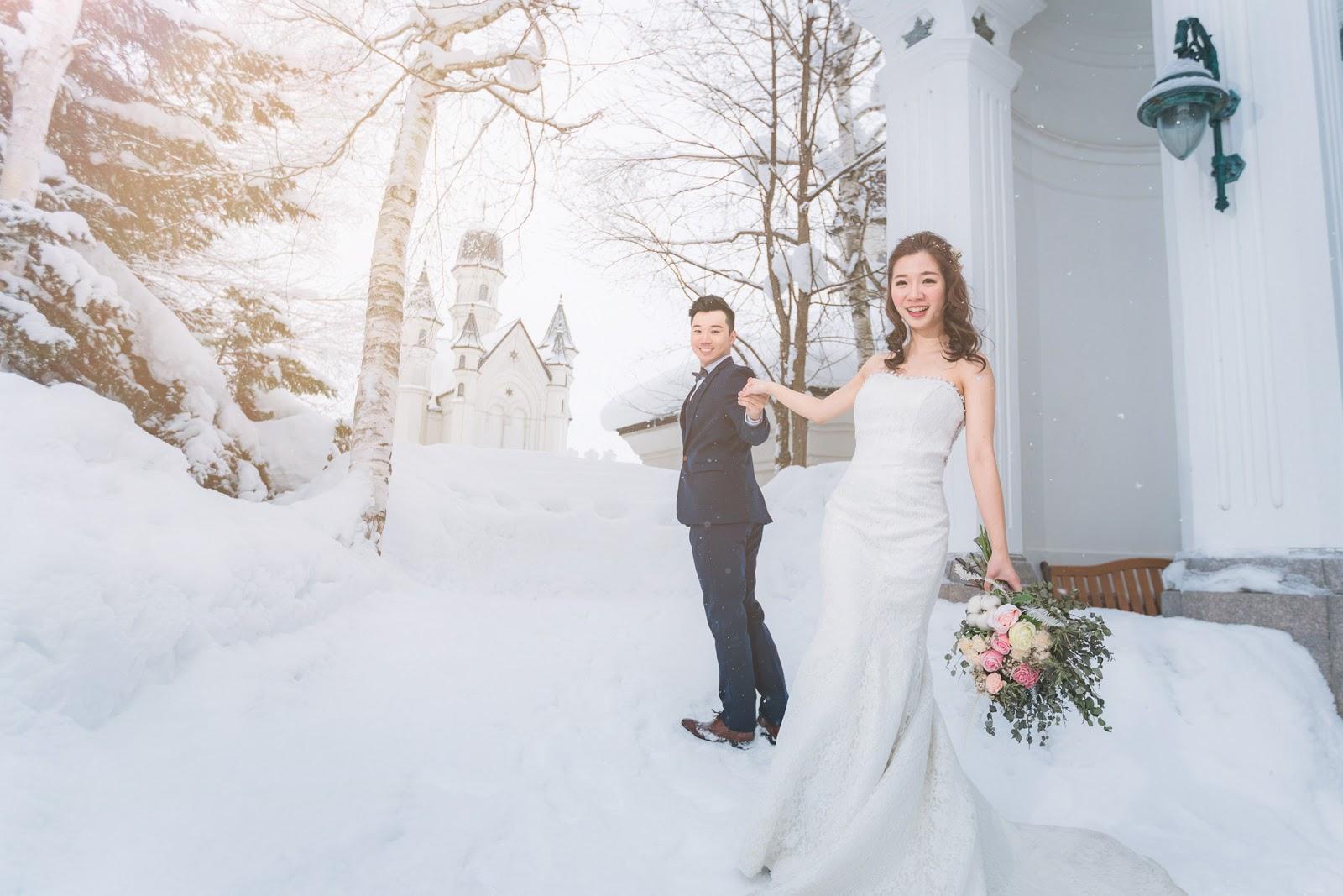 [北海道雪國婚紗] 日本海外婚紗 世界最美的北海道雪景婚紗 台北海外婚紗推薦