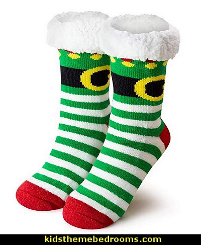 Christmas Elf Slipper Sock  Pajamas - fun pajamas - family pajamas - sleepwear - fun slippers - novelty socks - cute socks - Girls Pajamas - Boys Pajamas - Christmas pajamas - fun boxers - animal shape slippers - cute novelty slippers - Holiday clothing - holiday traditions - Christmas socks - Mommy & Me pajamas - Christmas gifts - birthday gifts -
