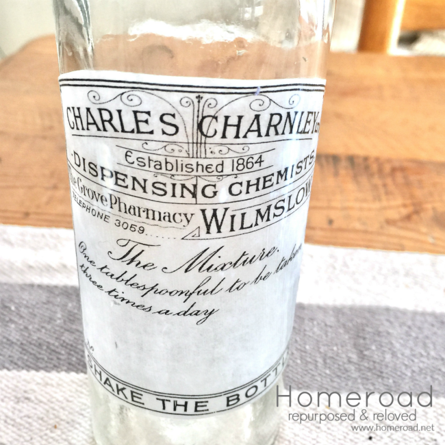 How to Create an Apothecary Label for a Hanging Bottle
