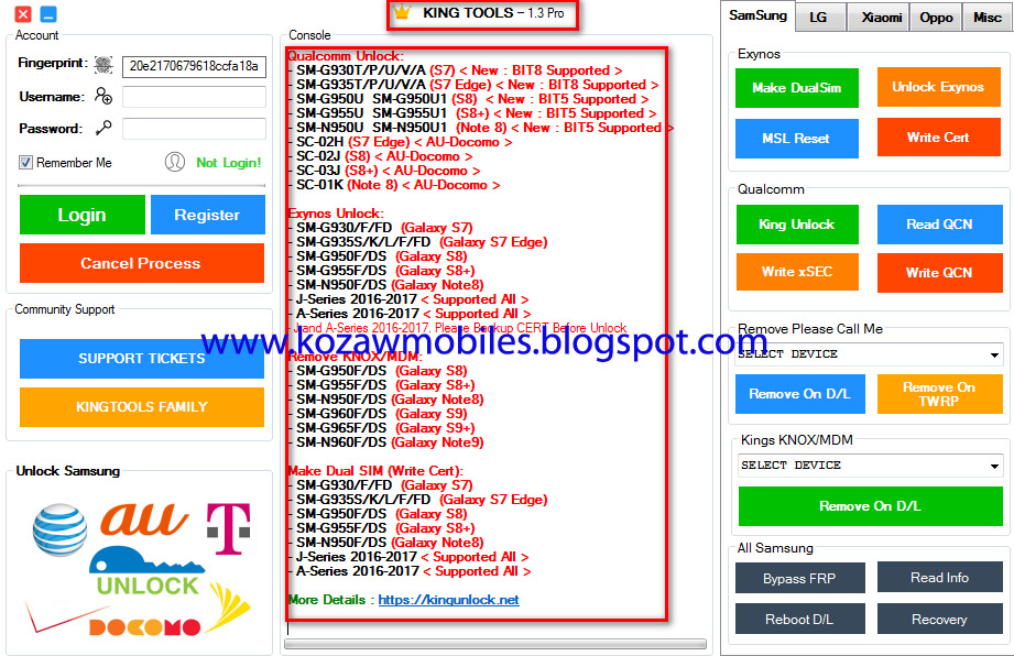 King Tools V1 3 Pro Cracked Free Download ( It's Working