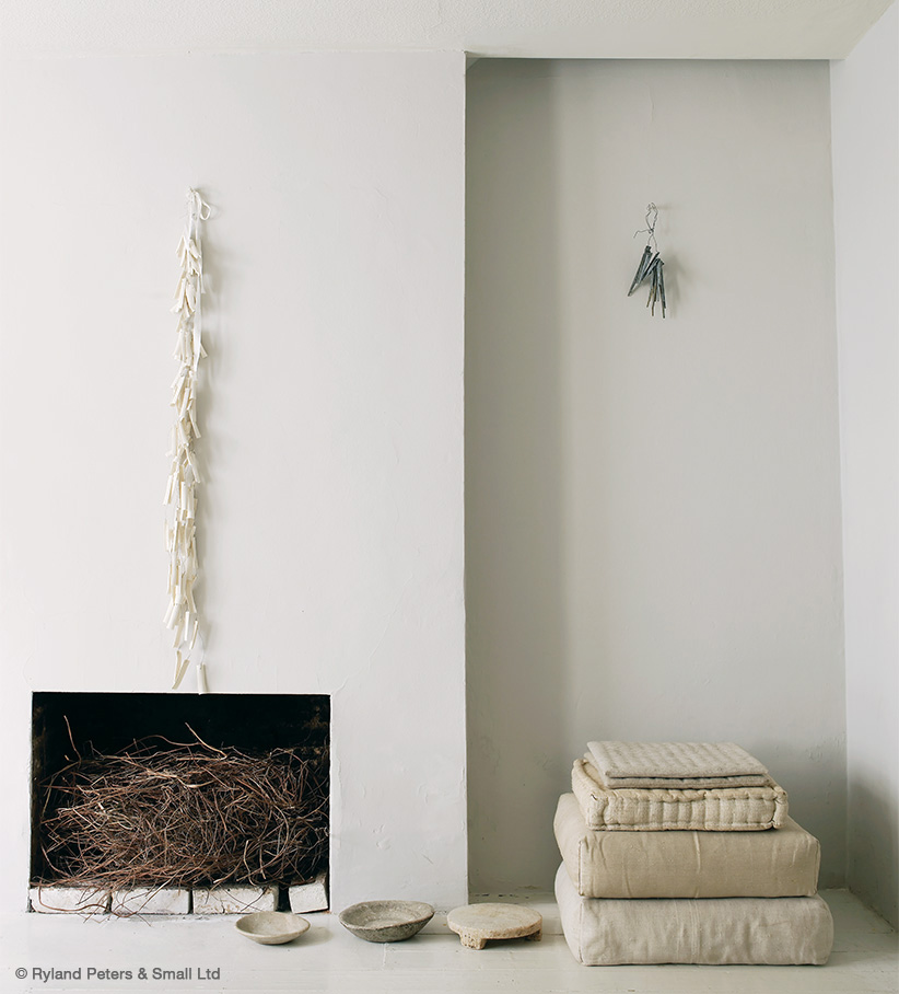 Beautiful minimal simple interior design in room by Mark and Sally Bailey