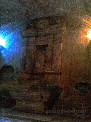 Old Altar inside the underground crypt