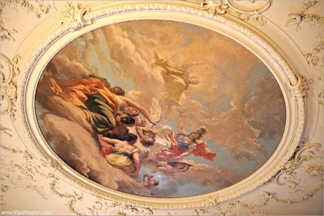 Fresco de Atenea del Dormitorio de Alva en Marble House, Newport