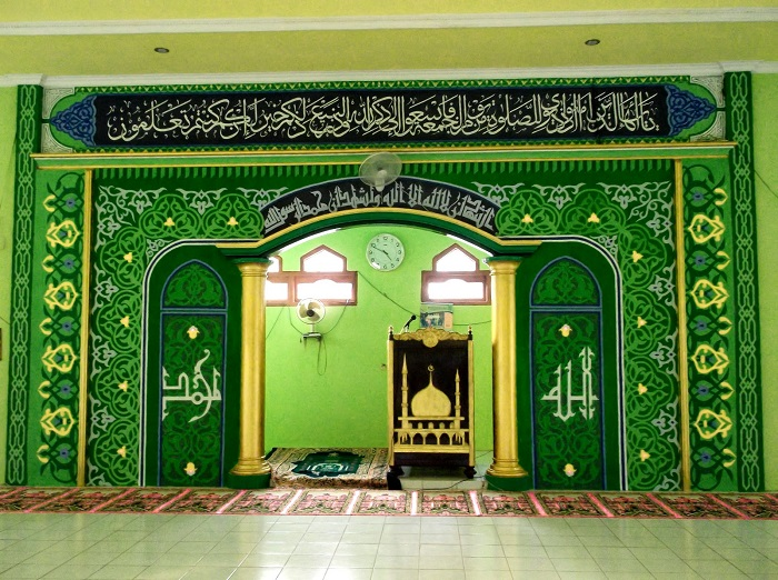 Desain interior kaligrafi masjid