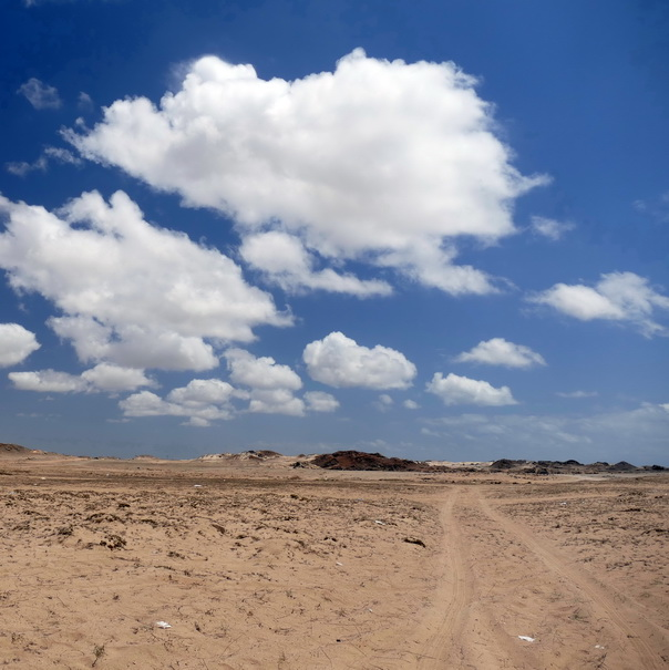 Masirah, Insel, Island, Oman, Himmel, Wolken, Wüste, Sand
